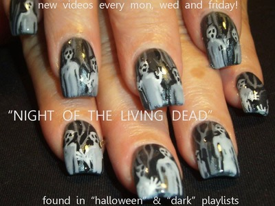 Night of the living dead Halloween Nail Art Tutorial