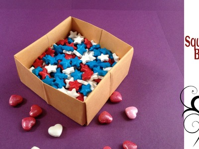 Origami Paper Square Box using a Rectangle sheet(A4 size)