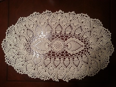 Oval Pineapple Doily Part 2