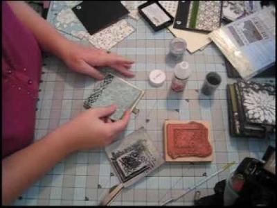 Scrapbook Mini Album, 5x5: Black & Ivory Fusion, Part 4