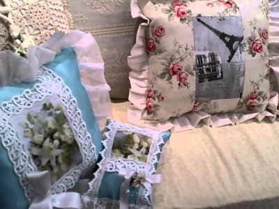 Shabby Chic Hand Made Decorative Pillows Towels and Gifts
