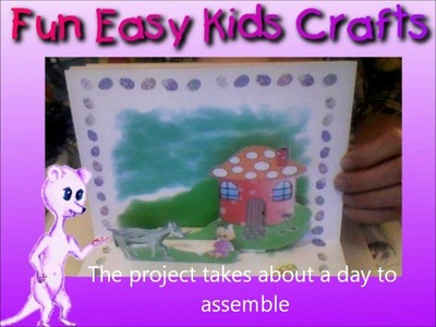 Simple 3D pop up Easter story book Craft