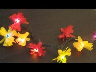 Streamer Paper Flower Lights - diy