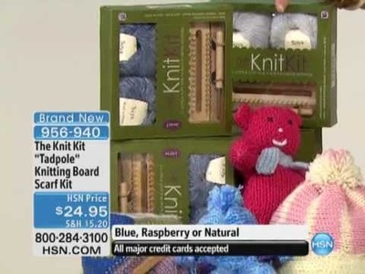Tadpole Knitting Board Complete Scarf Kit by The Knit Kit