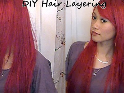 Updated DIY Home Hair Layering