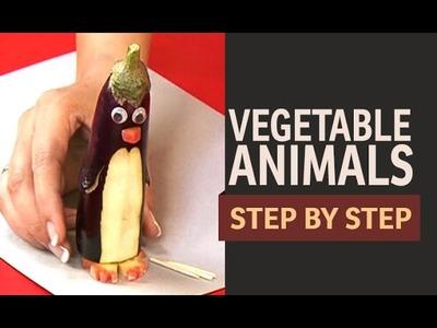 Vegetable Art - Penguins, Sheep and Lady Bugs (English)