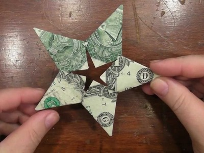 VR to Origami Star Dollar - with five US one dollar bills
