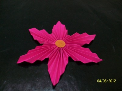 Wall decoration - quilled flower - paper craft