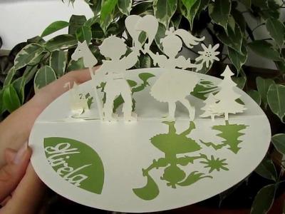 Wedding origami card