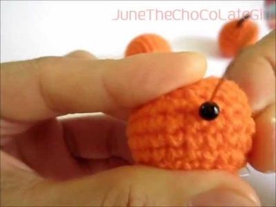 1st Crochet.Amigurumi Orange Tutorial By JuneTheChoCoLateGirl
