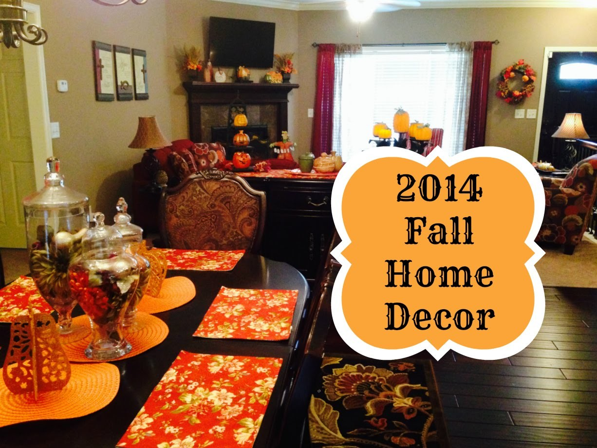 2014 Fall Decorations Home Tour and Mini DIY's