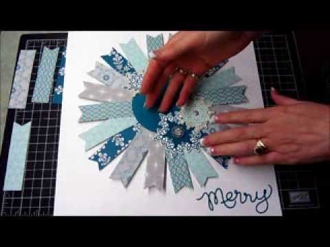 A Holiday Wreath for Your 12x12 Scrapbook Page