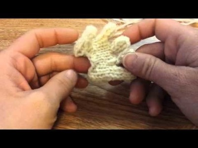 Altered hand- how to make fingers straight and casting on stitches to knit  arm