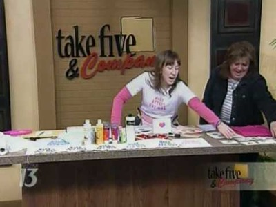 CraftSanity on TV: Making a Statement with Freezer Paper Stencils