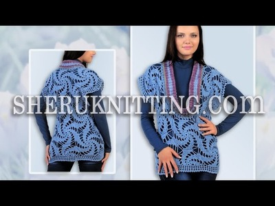 Crochet Motif Deep Neckline Vest Model 19