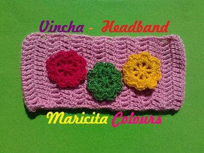 Crochet Tutorial  Vincha Doble Vareta - Headband Subtitles English & Deutsch