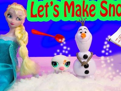 Disney Queen Elsa Frozen Make Your Own SNOW Fun Craft Set Kit Science Kids Playset Toy Unboxing