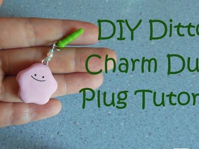 DIY Ditto Charm Dust Plug Polymer Clay Tutorial