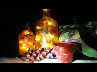 DIY Enchanting Bottle Upcycle Fall Fairy Glass