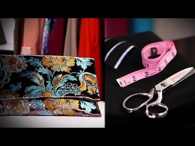 DIY Fashion | Make Your Own Clutch From Scratch | Designer DIY