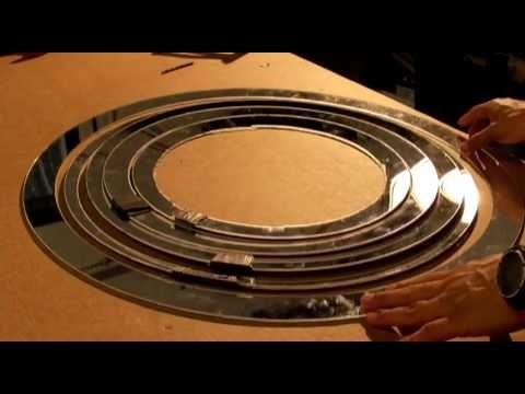 DIY Fresnel Mirror Solar Concentrator