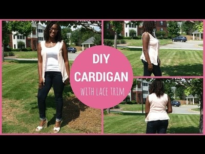 DIY: How to Sew a Cardigan with Lace Trim
