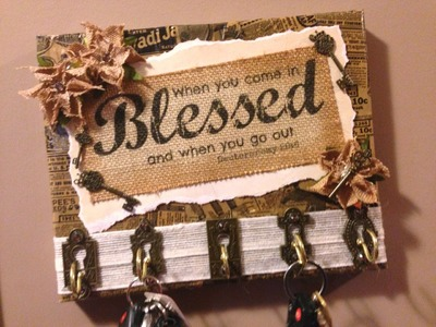 DIY Key Holder Gift Idea Tupelo Designs LLC Design Project