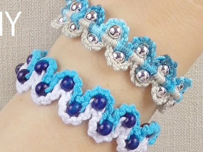 DIY Macrame Bracelets - Waves with Beads