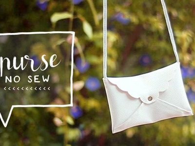 DIY Mini Cross Body Bag | No Sewing (How to Make a DIY Clutch Purse)