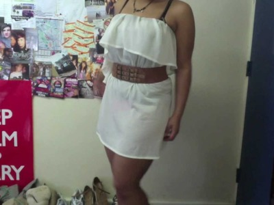 """DIY old dress into a skirt no sew"" tutorial"
