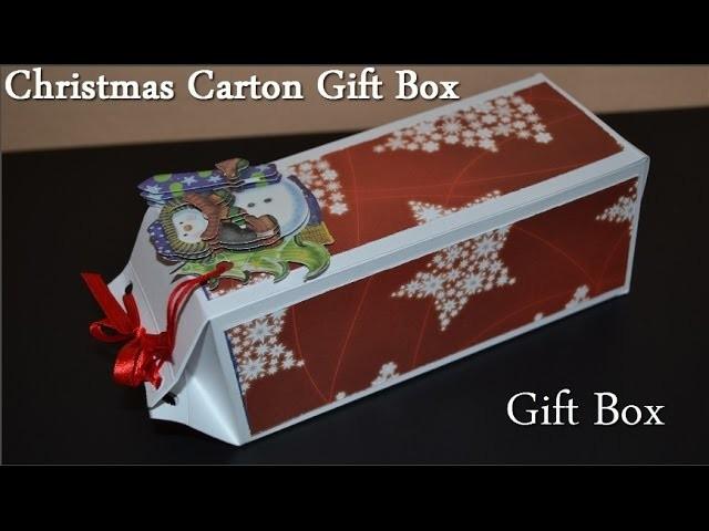 DIY Origami Christmas Gift Box - Tutorial