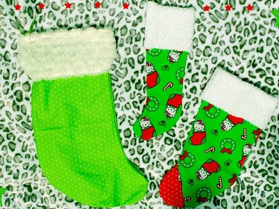 FAST AND SIMPLE DIY Christmas Stocking!