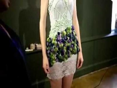 Fiber Artist and Crochet Fashion Designer Makes a Dress in 45 minutes