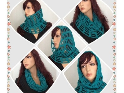 How to Crochet a Cowl - Neck Warmer Pattern #13 by ThePatterfamily