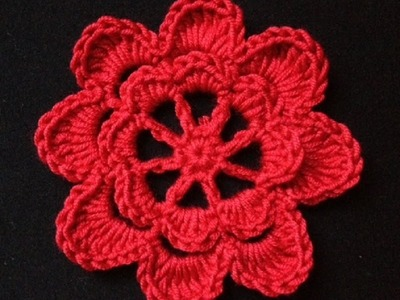How to Crochet a Flower Pattern #4