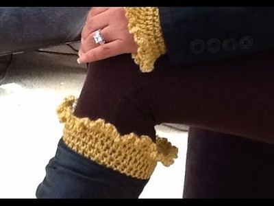 How To Crochet Glama's Ruffly Boot Cuffs