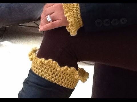 How To Crochet Glama's Ruffly Boot Cuffs