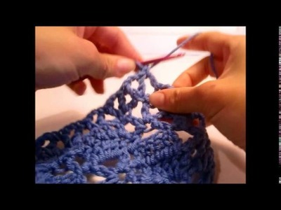 How to Crochet the Diamond Lace Pattern