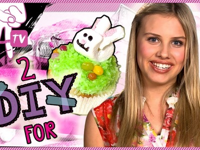 How to Decorate Cute Bunny Cupcakes for Easter - 2 DIY For Ep. 14
