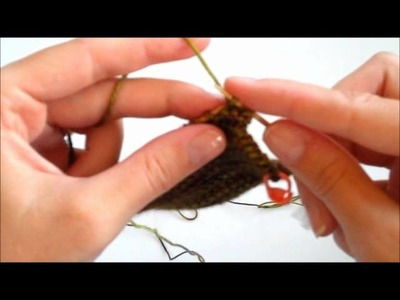 How to Knit a Twisted Stitch- How to Knit Through the Back Loop