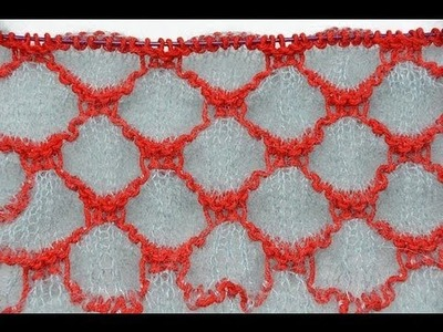 How to Knit * Honeycomb Shibori Shawl or Stole * Knitting Stitch