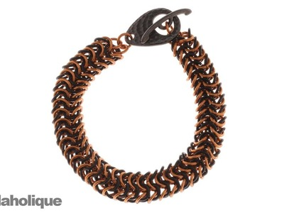 How to Make a Chain Maille Bracelet Using the Round Maille Weave