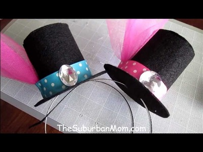 How To Make A Mini Top Hat Tutorial - DIY Alice in Wonderland Mad Hatter