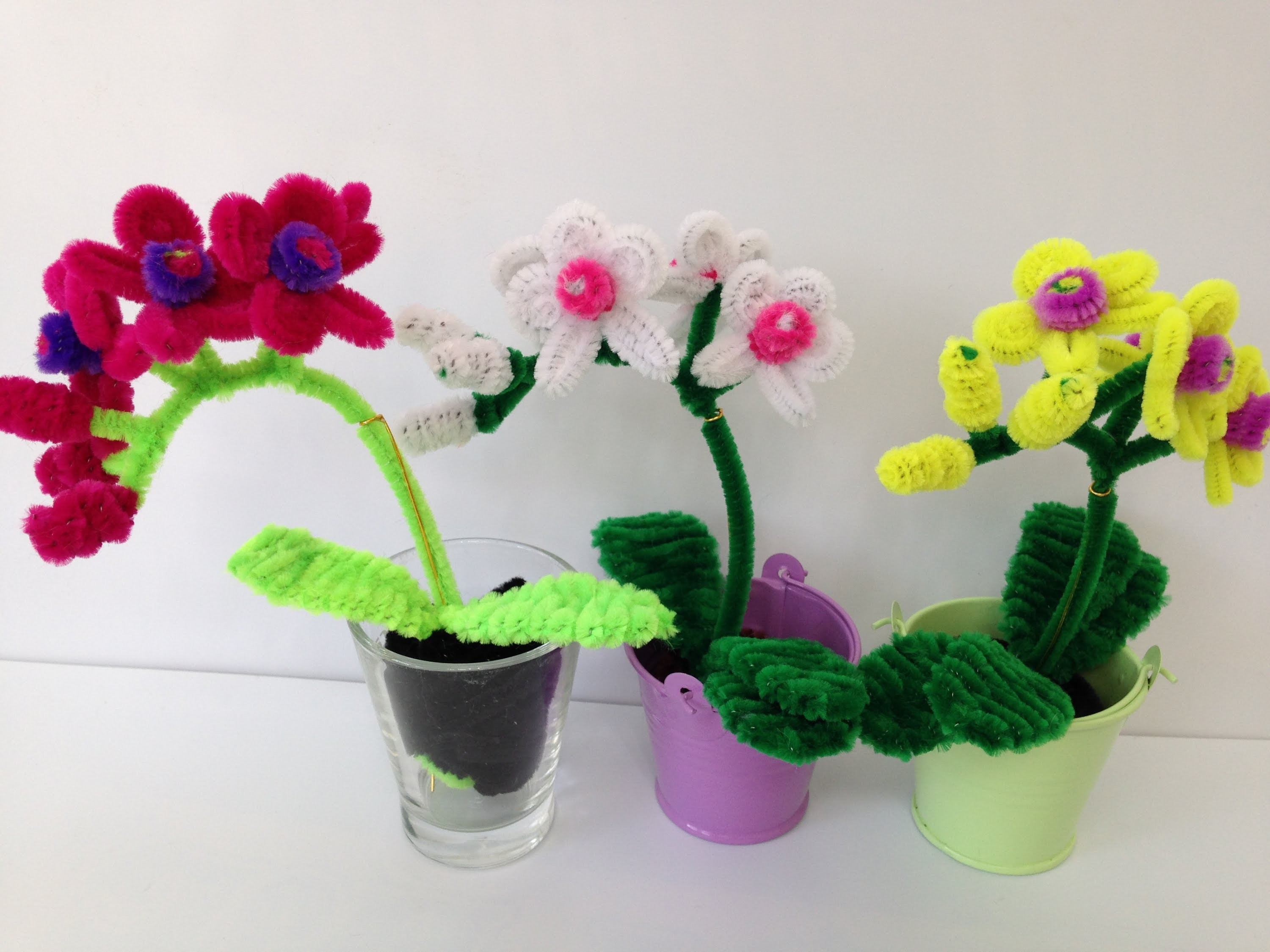 How to make a Pipe Cleaner Orchid