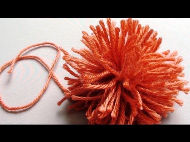 How to Make a Pom Pom without a Pom Pom Maker