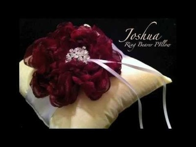 {JOSHUA} How to make an easy diy ring bearer pillow