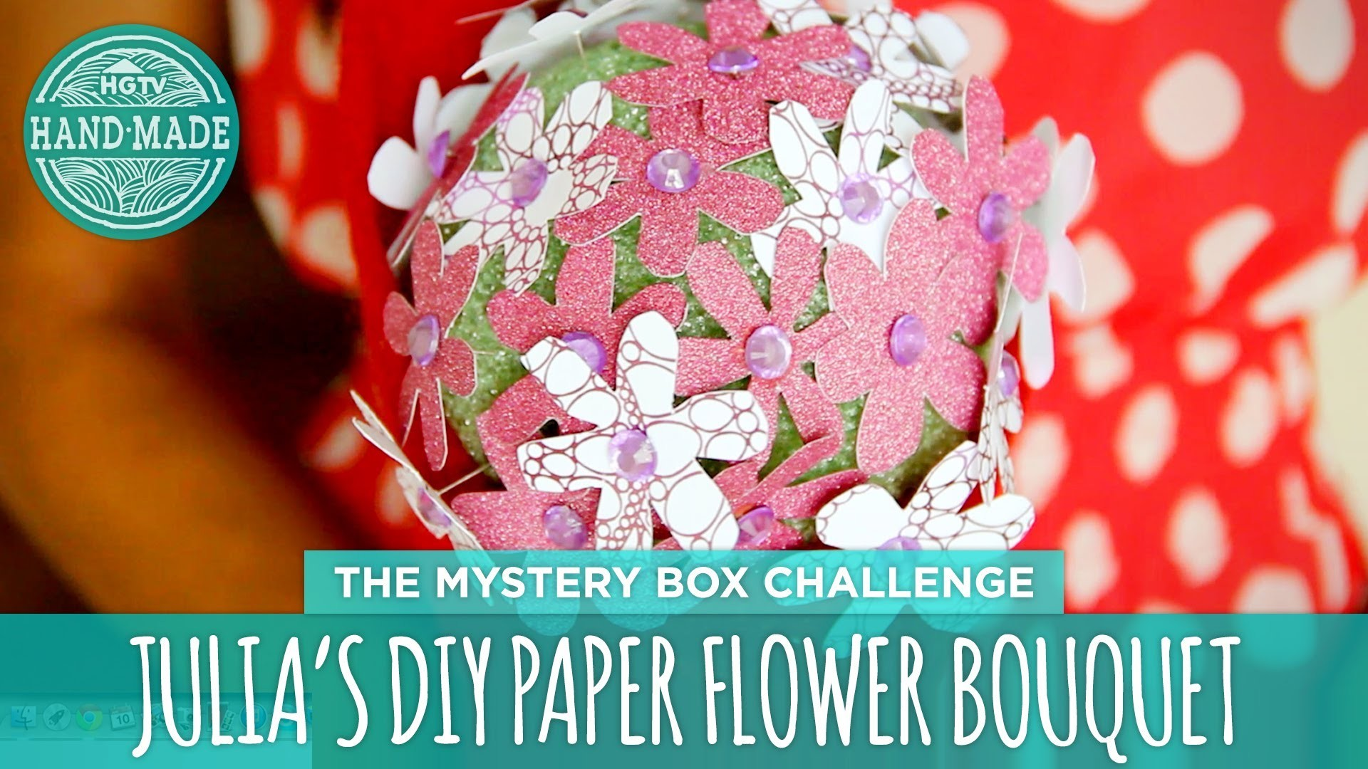 Julia's DIY Paper Flower Bouquet - HGTV Handmade Mystery Box Challenge