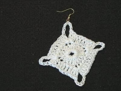 Left Hand Crochet - Crochet Earring Irene Left Hand Version Crochet Geek
