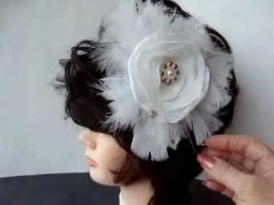 MAKE A BRIDAL FEATHER  HEADPIECE.