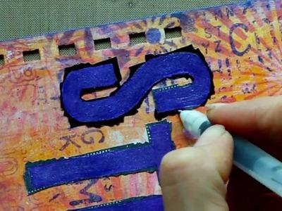 Mixed Media Stencil Storage Project